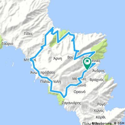Back roads to Ateni roundtrip from Ypsilou