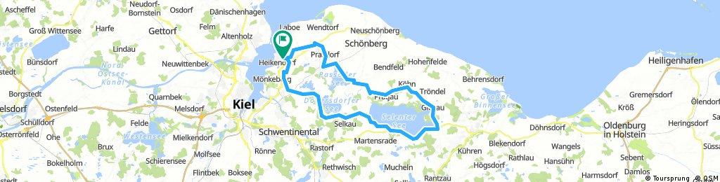 Lange Ausfahrt durch Heikendorf