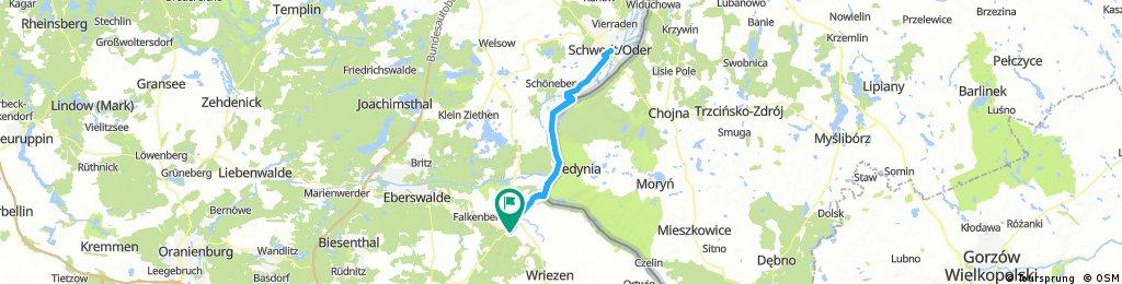Lange Radrunde durch Bad Freienwalde (Oder)