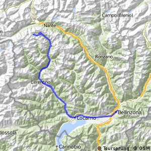 Cycling routes and bike maps in and around Bellinzona Bikemap