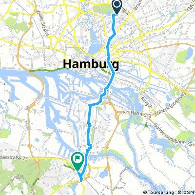 Testfahrt nach Harburg