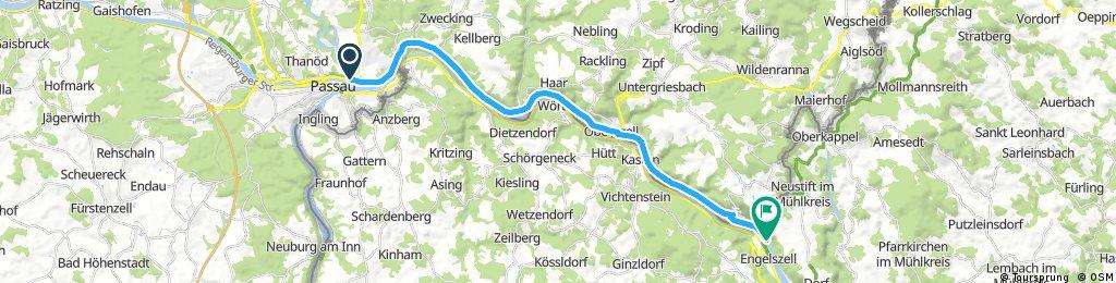 Ausfahrt von Passau nach Neustift im Mühlkreis