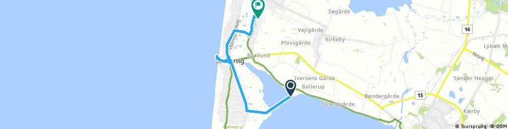 ride through Lodbjerg Hede