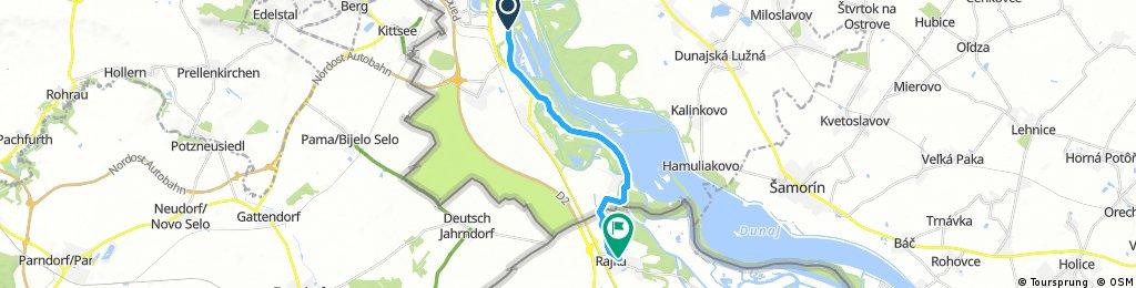 bike tour from Bratislava to Rajka