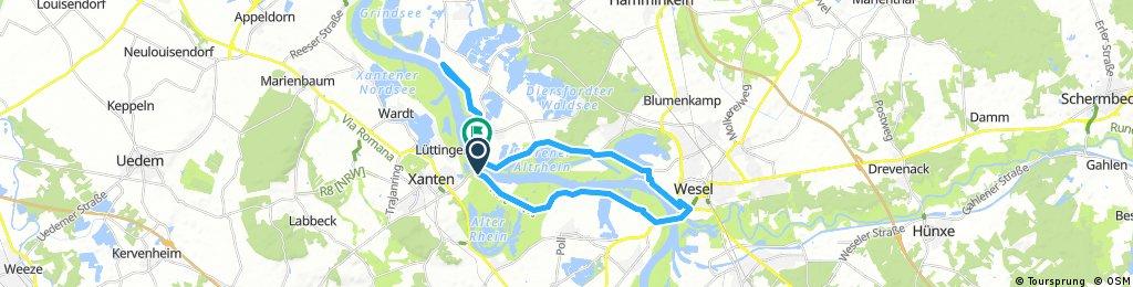 Lange Radrunde von Xanten nach Wesel