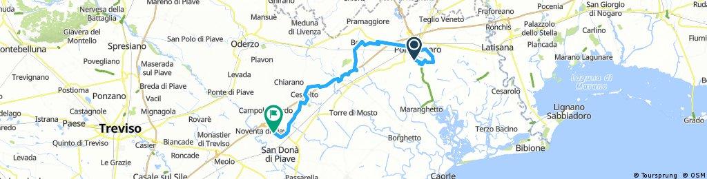 Noiare- Concordia S.- Portogruaro- S. Stino- Cessalto- S. Doná di Piave