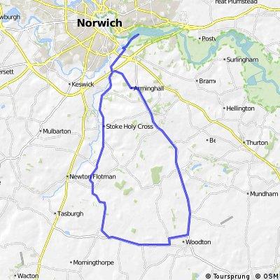 Norwich Olympic Triathlon bike route