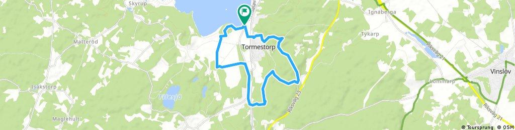 above Tormestorp to hovdala and back to finjasjön
