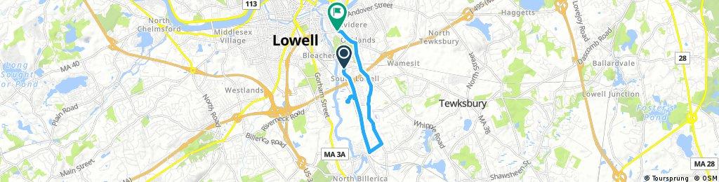 bike tour through Lowell