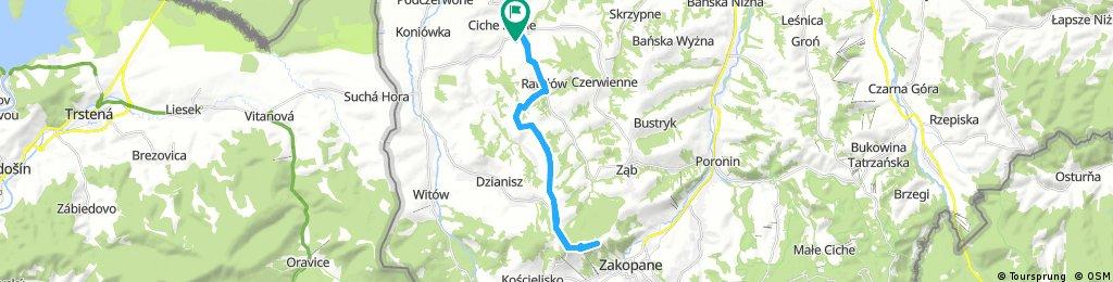 ride through Ratułów Gubałówka
