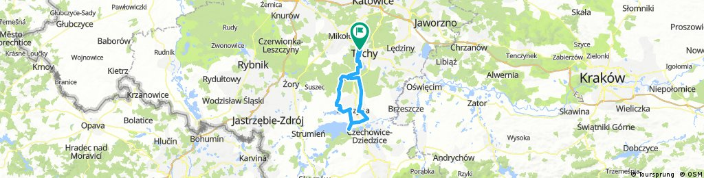 Lengthy ride through Tychy