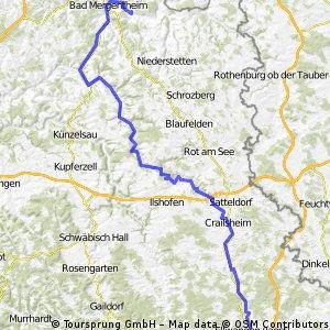 Ellwangen - Markelsheim (7. Etappe)