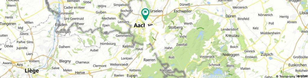 Aachen-Eynatten-Korneli-Münster-Aachen (Vennbahnstrecke)