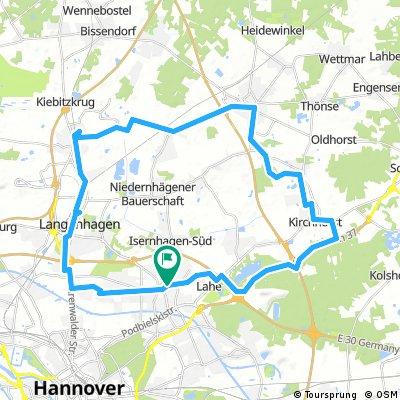 A37 - Neuwarmbüchen - Großburgwedel - Hainhaus - Kaltenweide - Krähenwinkel - Langenhagen