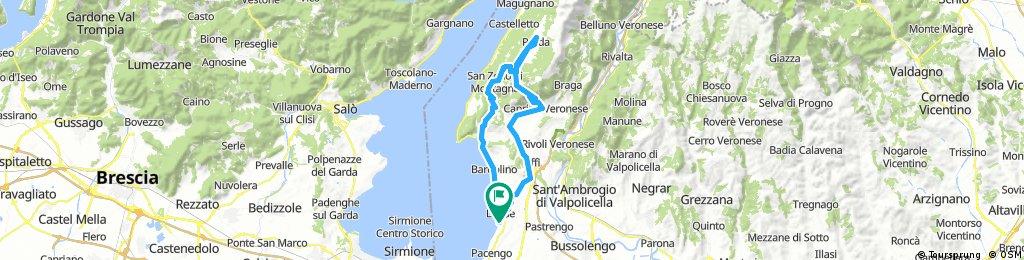 Lazise - Garda - San Zeno di Mantagna - Prada - Caprino Veronese - Affi - Lazise