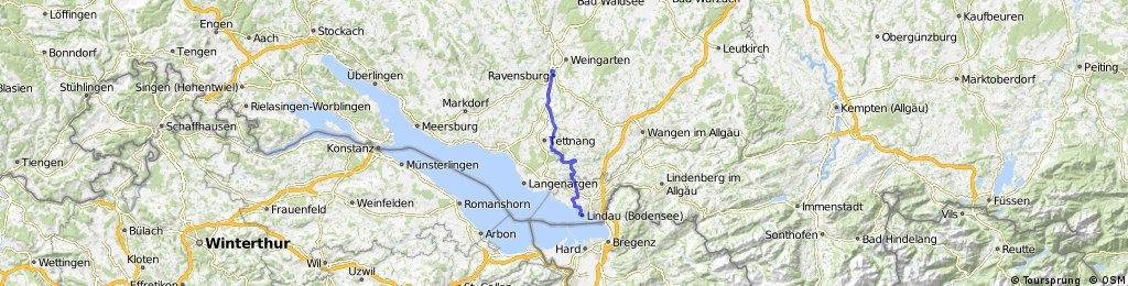 Wunderschöne Route nach Lindau