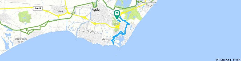 bike tour through Agde