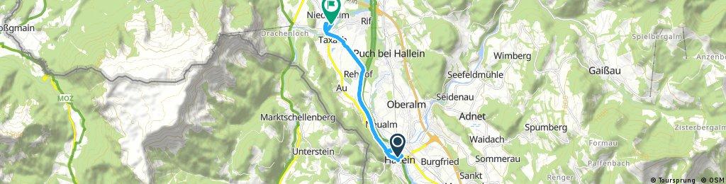 Kurze Radrunde von Hallein nach Niederalm