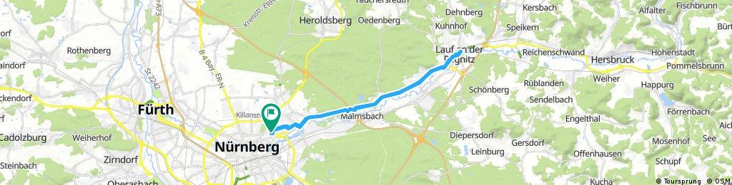 Lange Radrunde durch Nürnberg