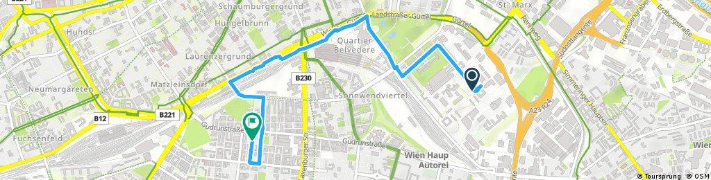 Kurze Ausfahrt durch Wien