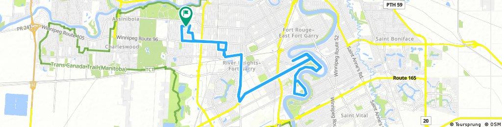 Long bike tour through Winnipeg