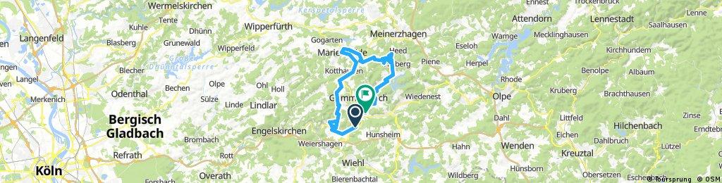 Lange Ausfahrt rund um Gummersbach