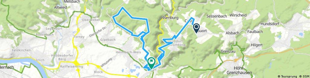 Nauort - Rheinhöhenweg -Sayn