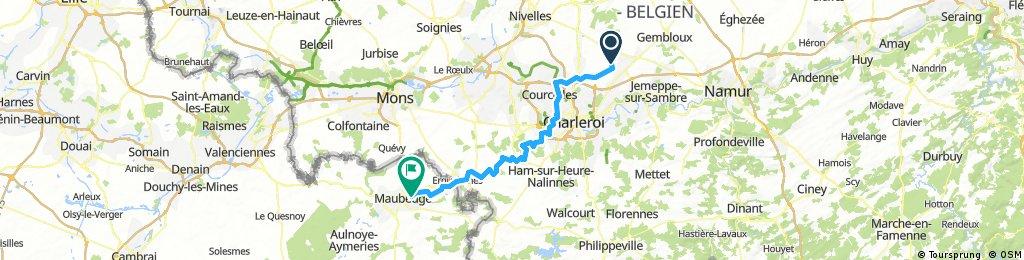 Premier jour de la randonnée St Amand Deauville