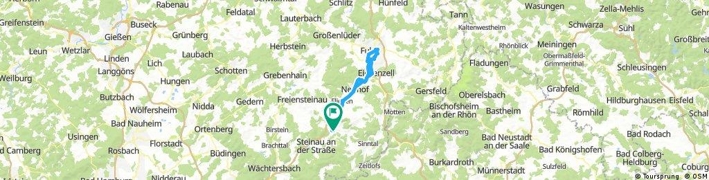Fahrt nach Fulda und zurück.