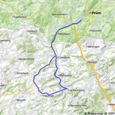 Radweg Niederprüm-Waxweiler; Lauperath hoch