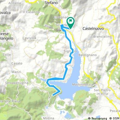 Ausfahrt durch Pieve Santo Stefano