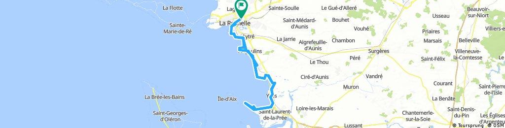 La Rochelle to Fouras via coast 15-Aug