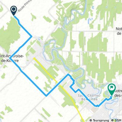 ride from Saint-Ambroise-de-Kildare to Notre-Dame-des-Prairies