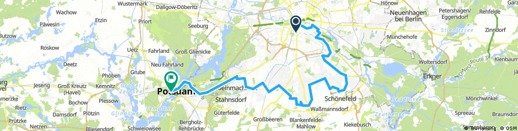 Tag 2 Mauerradweg Kreuzberg nach Potsdam
