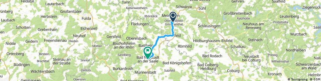 Grimmenthal - Mellrichstadt - Bad Neustadt/Saale