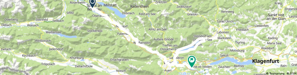 Spittal an der Drau - Villach - Ossiacher See Runde - Föderlach