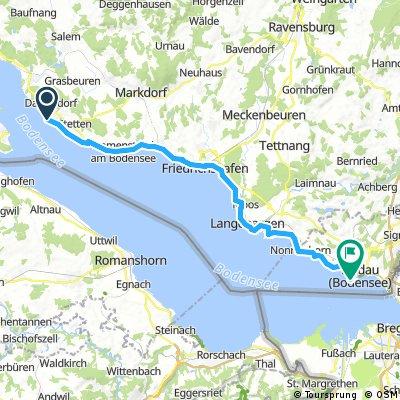 Bodensee Lindau-Meersburg 45km