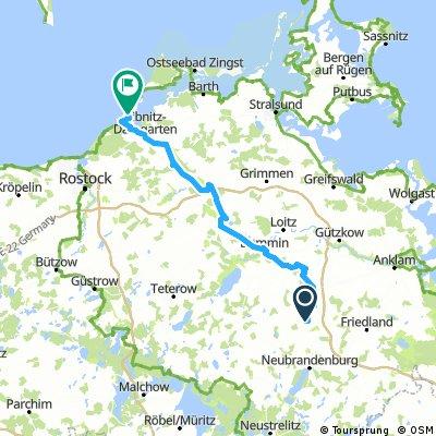 Tollense- und Trebeltal-Radwege zur Ostsee
