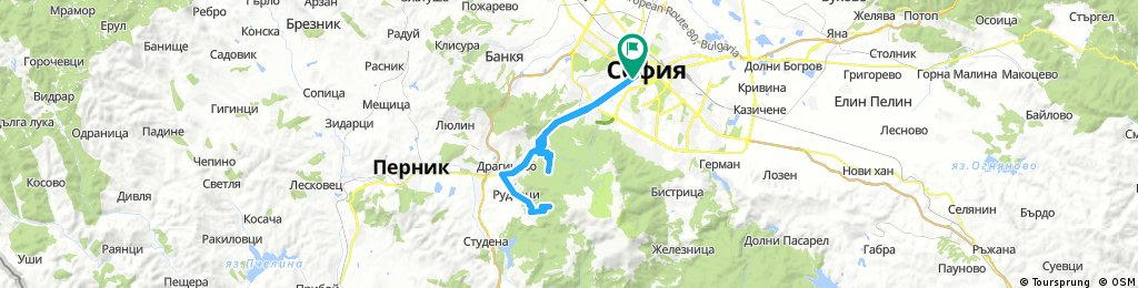 Sofia - Kladniza climb - Vladaia climb