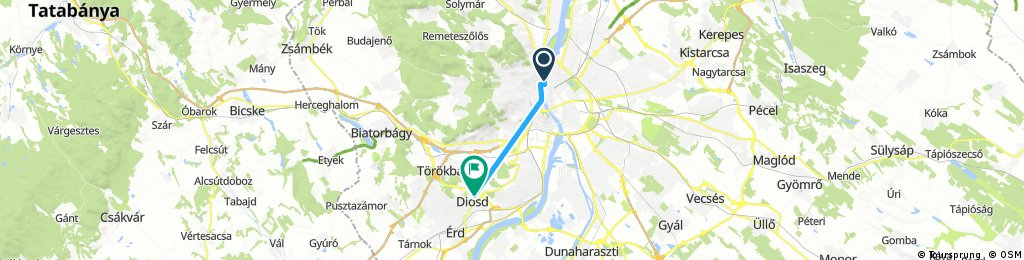 Short bike tour through Diósd