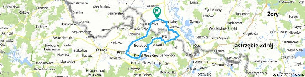 Lengthy ride through Bojanów