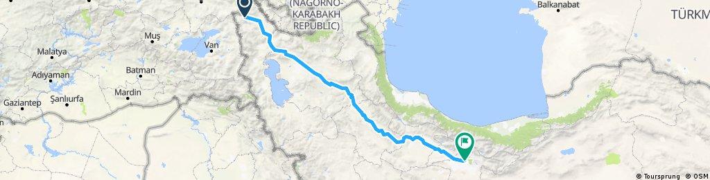 3. Etappe: Maku- Teheran (Iran)