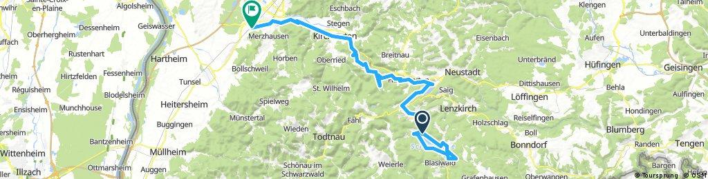 Um den Schluchsee nach Freiburg