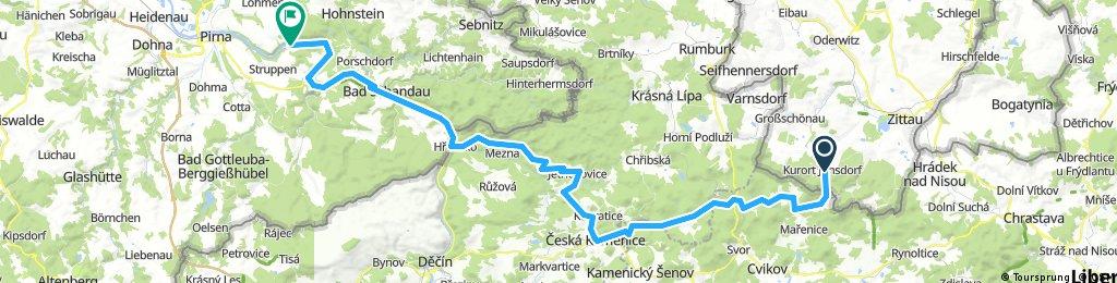 Jonsdorf nach Stadt Wehlen