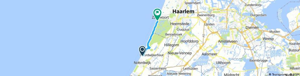 bike tour from Noordwijk-Binnen to Zandvoort