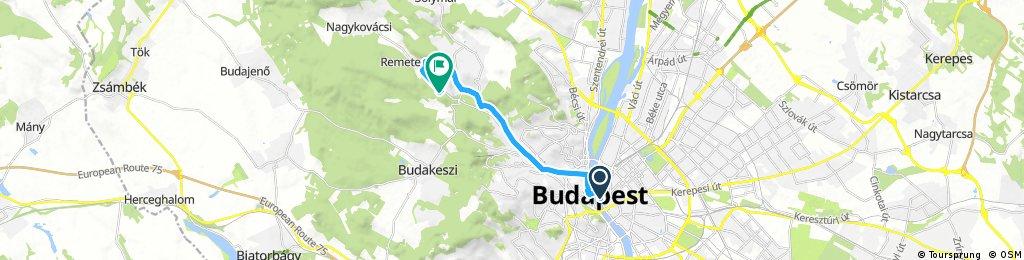 bike tour from Budapest V. kerület to Budapest