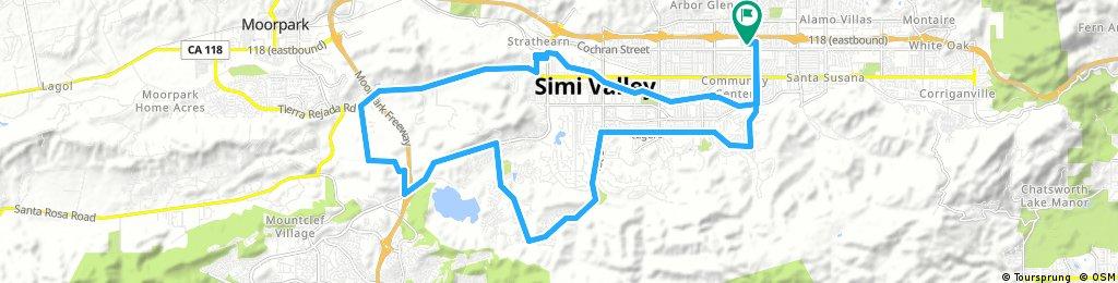 Long bike tour through Simi Valley