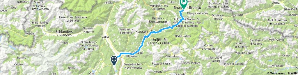 Kaltern - Lajen - Villnöss - Badia - Bruneck