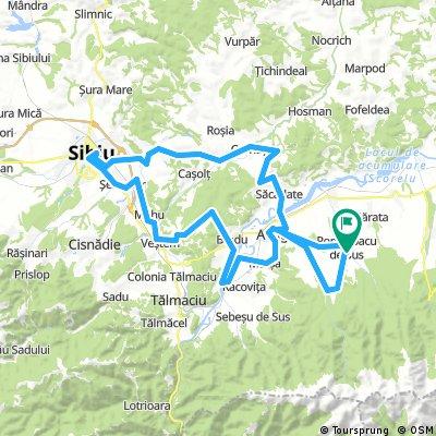 De la Porumbacu de Sus la Sibiu