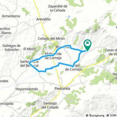 Bonilla - Mesegar - Santa María del Berrocal - Becedillas - Bonilla